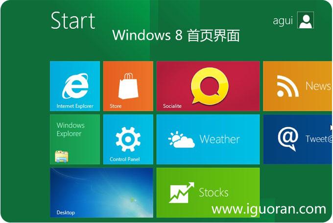 Windows8首页界面