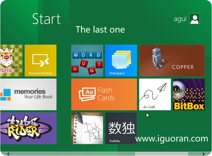 Windows8第三界面
