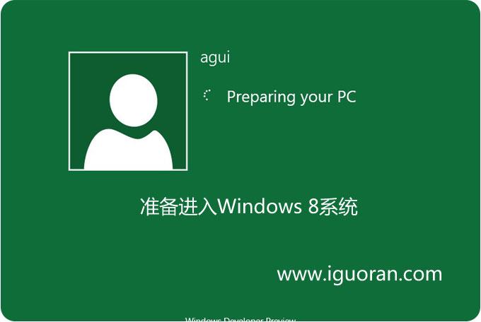 windows8准备进入